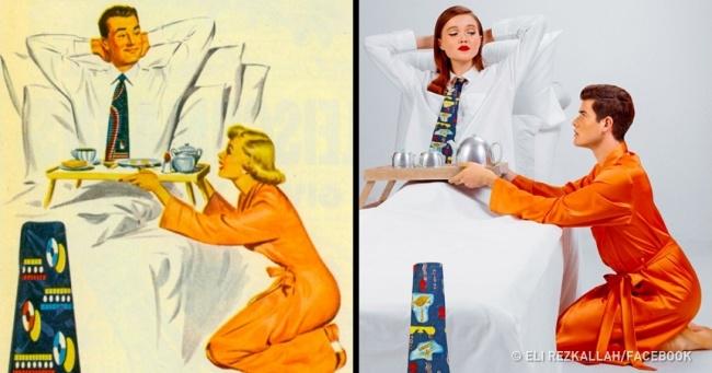 Фотограф перезняв сексистські рекламні плакати 50-х, щоб показати, як змінилося життя