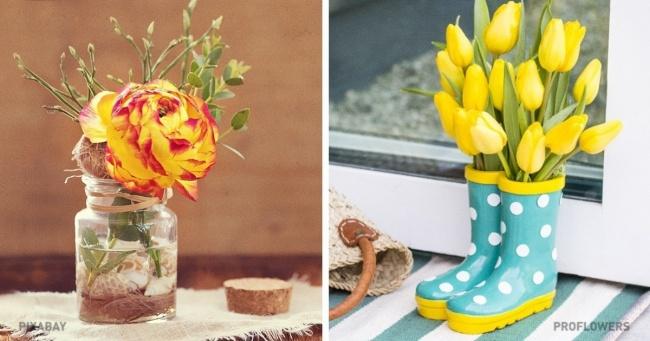 23 оригінальних способу прикрасити будинок квітами